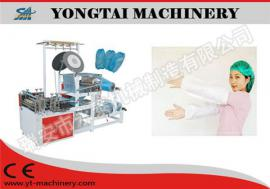 Disposable plastic sleeve making machine